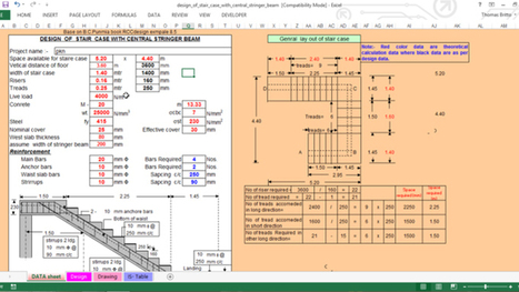 How to make the design of stair case through central stringer beam | Construction Industry Network | Scoop.it