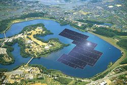 "Le Japon construit la plus grande centrale solaire flottante du monde | ""green business"" 