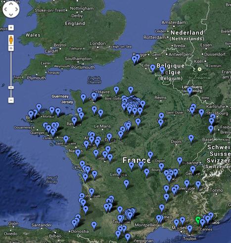 Carte Google : Prêt de liseuses et tablettes en bibliothèque   L'édition en numérique   Scoop.it