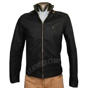 Cross Zip Pocket Slim fit Leather Jacket   Men's Leather Jackets   Scoop.it
