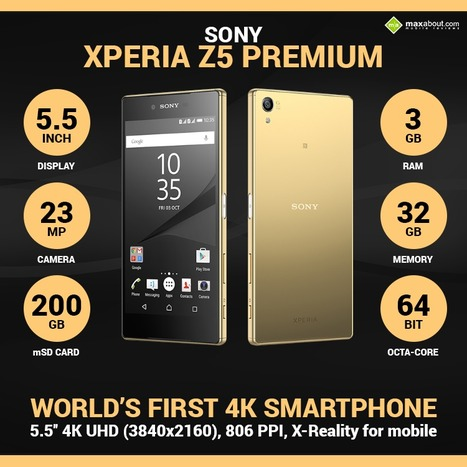 Meet Sony Xperia Z5 Premium – The World's 1st 4K Smartphone | Maxabout Mobiles | Scoop.it