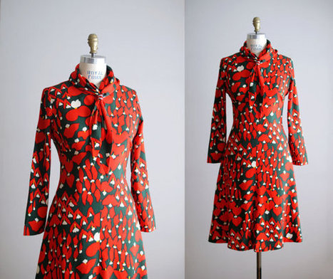 70s dress | All things Fashion Print | Scoop.it