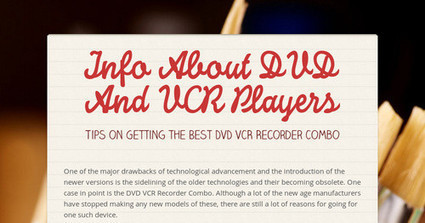 Info About DVD And VCR Players | Vcr-Player | Scoop.it