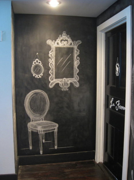 Chalkboard Paint Ideas: When Writing on the Walls Becomes Fun | Designing Interiors | Scoop.it