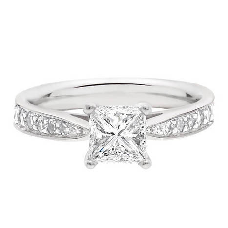polly engagement ring is a princess cut diamond set in white gold | Engagement rings Dublin Blog. | Scoop.it