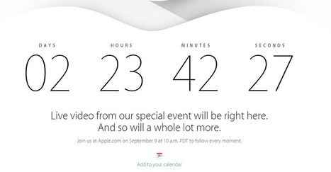You can watch the iPhone 6/iWatch event on your Apple TV | Technology | Scoop.it