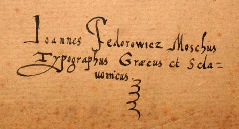 Johannes Fedorowicz, imprimeur | Arobase - Le Système Ecriture | Scoop.it