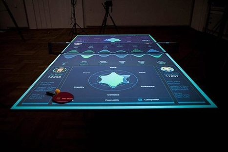 Une table de ping-pong interactive qui vous apprend à mieux jouer | ping pong 44 | Scoop.it