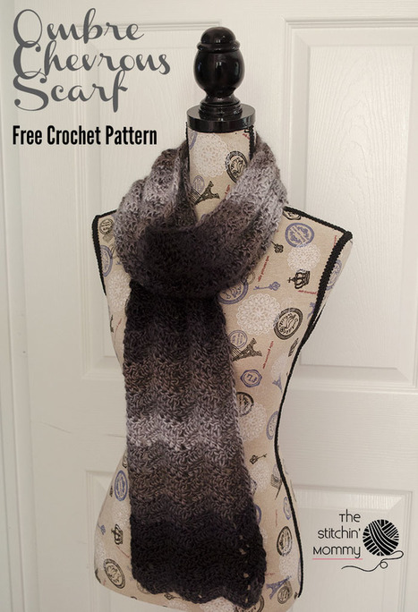 Ombre Chevrons Scarf - Free Crochet Pattern - The Stitchin Mommy | Crochet Patterns and Tutorials | Scoop.it