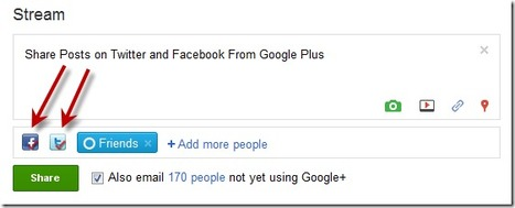 Post On Twitter and Facebook From Google Plus | Time to Learn | Scoop.it