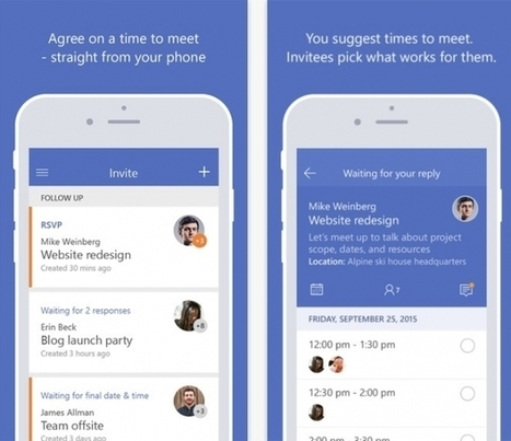 Microsoft Gives You Invite App For iOS To Organize Your Meetings On The Go - Tech Times | iPhones and iThings | Scoop.it