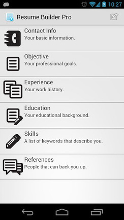 Resume Builder Pro v1.32 (paid) apk download | ApkCruze-Free Android Apps,Games Download From Android Market | Nice app | Scoop.it