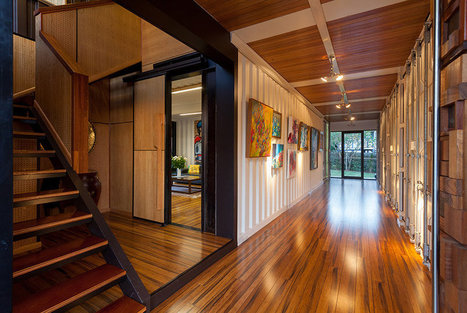 une maison faite de 31 containers construire. Black Bedroom Furniture Sets. Home Design Ideas