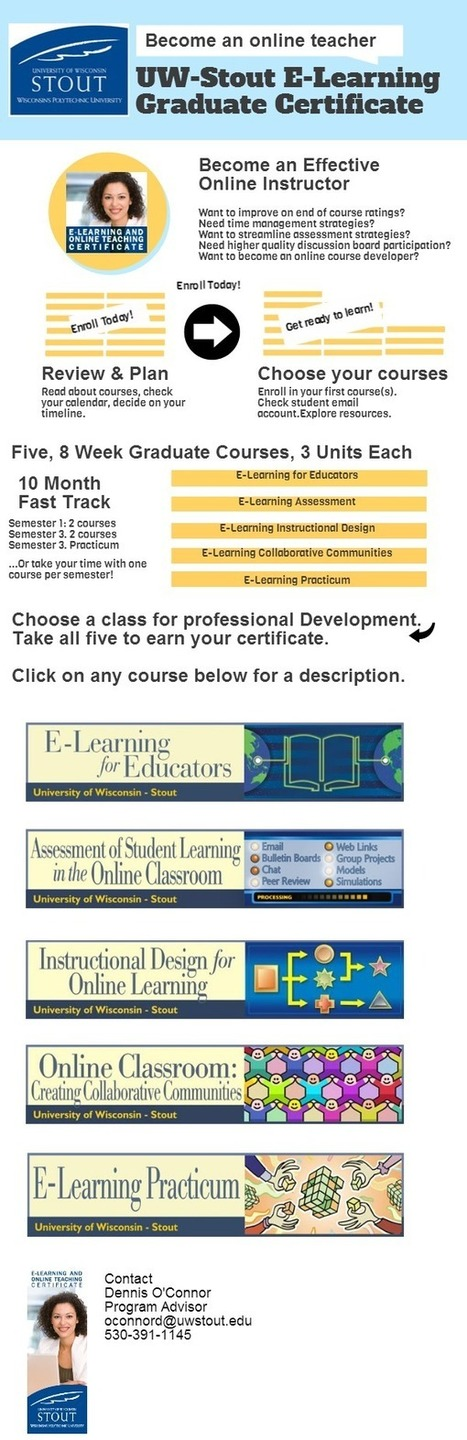 UW-Stout: E-Learning and Online Teaching Graduate Certificate | iEduc | Scoop.it