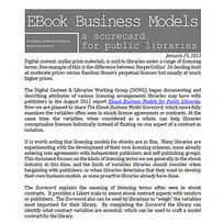 Modelos de Licencias de eBooks para bibliotecas (ALA) | Universo Abierto | Bibliotecas y Educación Superior | Scoop.it