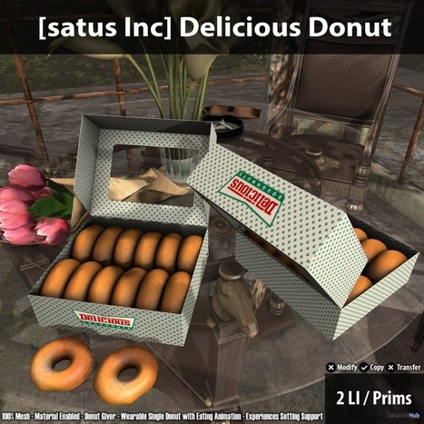 New Release: Delicious Donut by [satus Inc] | Teleport Hub - Second Life Freebies | Second Life Freebies | Scoop.it