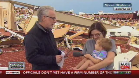 "Wolf Blitzer Asks Atheist Tornado Survivor, ""Do You Thank The Lord?"" 