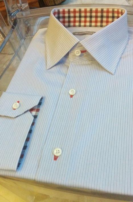 Camicia su misura Piacemolto® in cotone doppio ritorto, collo Italiano, polsi smussati. | Camicie uomo su misura....consigli, curiosità e molto altro | Scoop.it