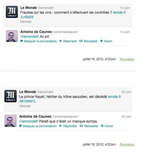 DÉCALÉ – Antoine de Caunes, Twitter et Le Monde.fr - Le Monde | Smartphones et réseaux sociaux | Scoop.it