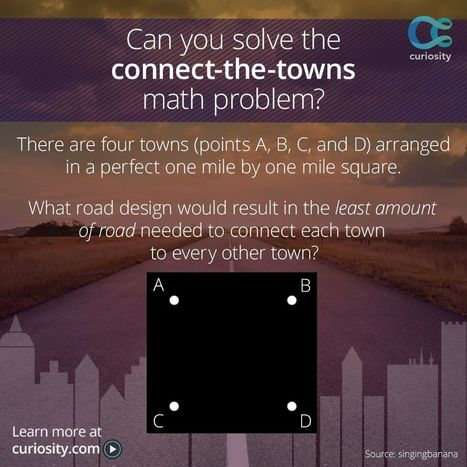 The Connect-The-Towns Math Problem | omnia mea mecum fero | Scoop.it