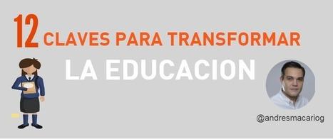 12 claves para transformar la educación #infografia @andresmacariog | Aprendiendoaenseñar | Scoop.it