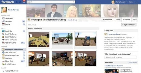 Second Life, Facebook, and OpenSim – Hypergrid Business | A Virtual Worlds Miscellany | Scoop.it