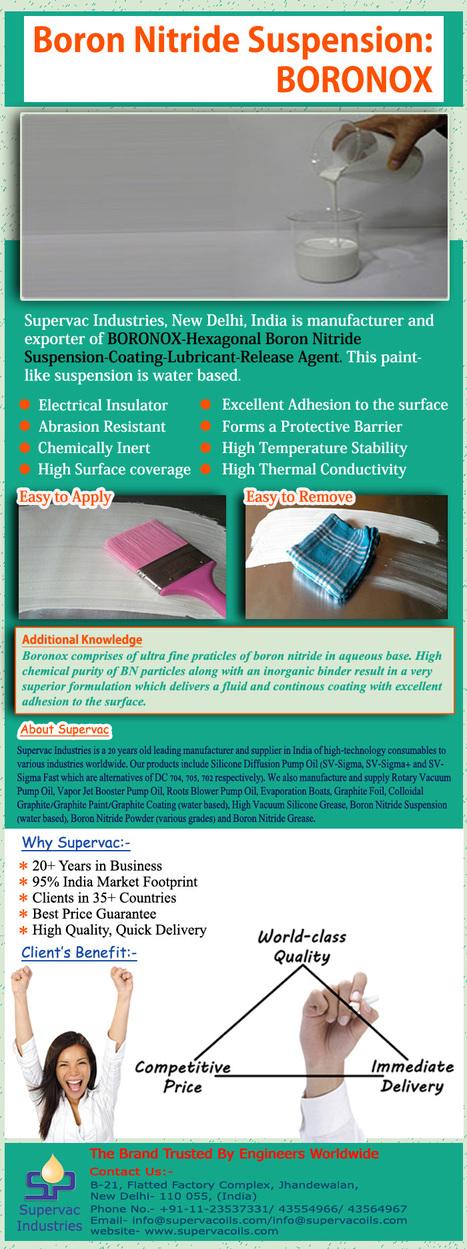 Boronox: Boron Nitride Suspension   Supervac Industries   Scoop.it