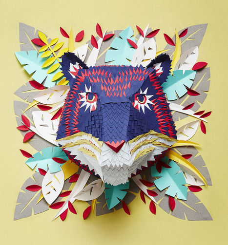 #Animal #Masks From Hundreds Of Tiny Pieces Of #Paper. #art | Luby Art | Scoop.it