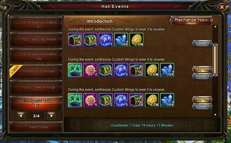 Wartune Addicts Blog: Wartune New Events 12/27: Special Tailor 1-4, Clothing Identification, Coin of Ancestry Exchange 12/27, Recharge Gift Packs | Wartune Addicts | Scoop.it