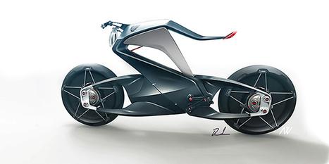 Une moto design se plie en 2 dans les virages - Mon Coin Design | Design insolite | Scoop.it