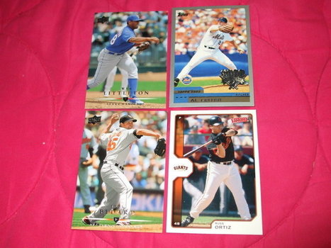 AUCTION- A:  4 Baseball cards - trading - memorabilia - Collectibles. | Baseball cards | Scoop.it