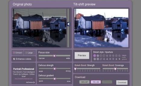 Tiltshiftmaker, un efecto para convertir a tus fotos en maquetas o miniaturas | e-learning y moodle | Scoop.it