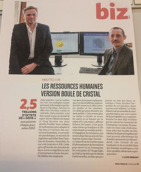 Focus sur Analytics4HR - spin-off créée par Greg Bruwier (Promo 2007) et Fabrice De Zanet (Promo 2012) (Trends, Mai 2016) | Alumni HEC Liège | Scoop.it