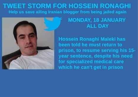 Tweet Storm for Hossein Ronaghi-Maleki | sub specie eternitatis | Scoop.it