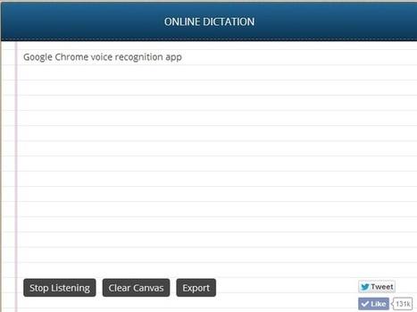 Google Chrome Voice Recognition app: Type with voice on Google Chrome | Miscellanium | Scoop.it