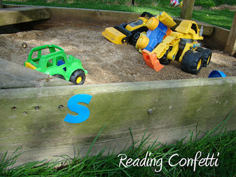 Outdoor Letter/Sound Matching | Learn through Play - pre-K | Scoop.it