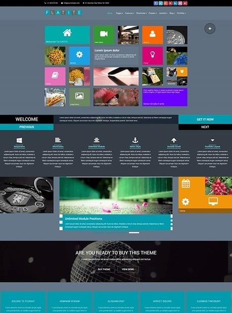 TM Flatite - Responsive Creative Joomla Template | Free & Premium Joomla Templates and WordPress Themes | Scoop.it