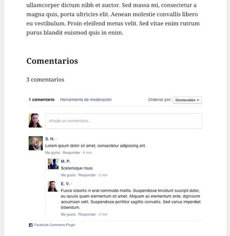 Sistema de comentarios de Facebook en WordPress | Expertos en WordPress | Scoop.it