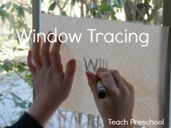 Window tracing on a sunny day | Happy Days Learning Center - Resources & Ideas for Pre-School Lesson Planning | Scoop.it