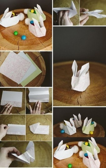 How to fold paper craft origami bunny step by step DIY tutorial instructions | How To Instructions | Creative Paper & Ephemera Art | Scoop.it