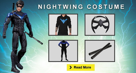 DIY Nightwing Costume Guide For Halloween | celebrities Leather Jackets | Scoop.it