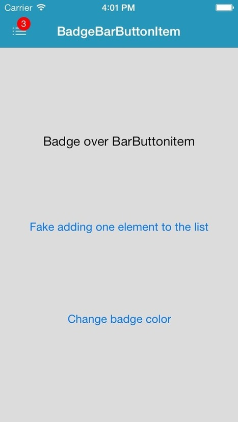 BBBadgeBarButtonItem - A BarButtonItem with a badge on top. | iOS | Scoop.it