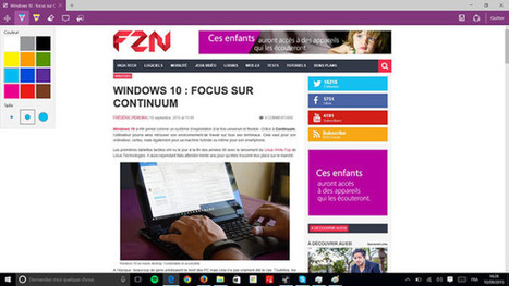 Windows 10 : focus sur Microsoft Edge | Seniors | Scoop.it