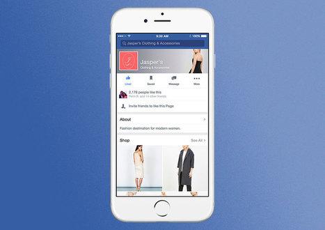 Facebook E-commerce : une fonctionnalité boutique pour les pages en perspective ?   Internet world   Scoop.it