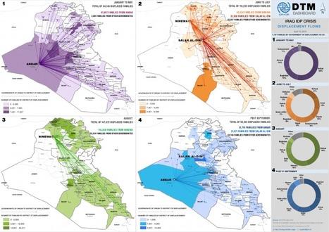 Sélection de ressources : Cartographie des déplacés en irak (avril 2015) | Géographie des conflits | Scoop.it