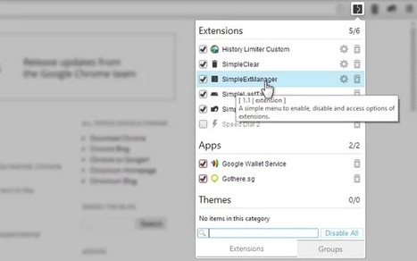 extension to manage chrome extensions: SimpleExtManager | Technology | Scoop.it