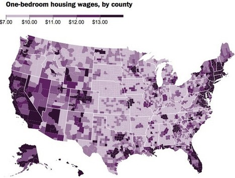 What you'd need to make in every county in America to afford a decent one-bedroom | Geography Education | Scoop.it