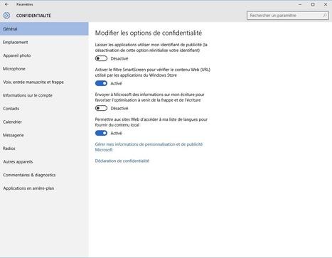 Windows 10: quelques bons réflexes contre la fuite de vos données   L'informatique pour la petite entreprise   Scoop.it