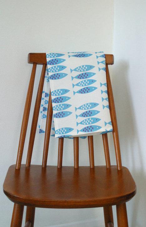 Newlyn Fish Tea towel | Fish: 21st Century Design Essentials | Scoop.it
