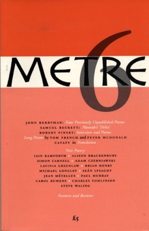 METRE Poetry Magazine Archives | The Irish Literary Times | Scoop.it